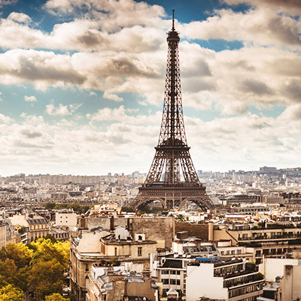 Paris city view - Sapmer in Europe