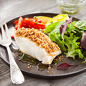 Chilean seabass covered with crumble recipe by sapmer