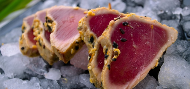 Seared seafood - how to defrost the seafood