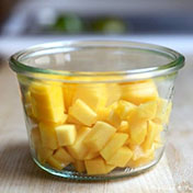 Diced mango - Rock lobster recipe